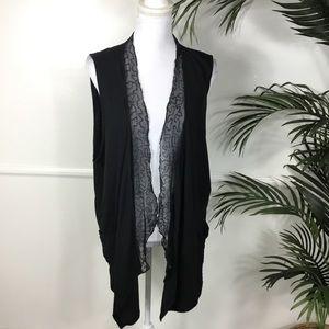Torrid Black Sequin Sleeveless Vest Womens Plus 3X
